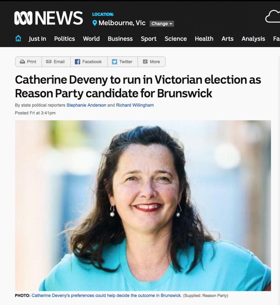 Catherine Deveny >> Vote Reason Catherine Deveny for Brunswick | Catherine Deveny